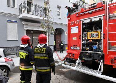 Pożar kamienicy w centrum Szczecina. Zginęło dwóch mężczyzn