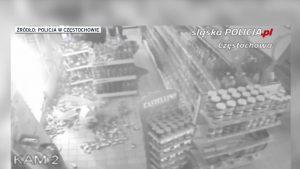Włamywacz z Częstochowy nie potrafił wydostać się z okradanego sklepu i wpadł w ręce policji