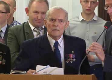 98-letni żołnierz AK Witalis Skorupka zachęca Polaków do szczepień