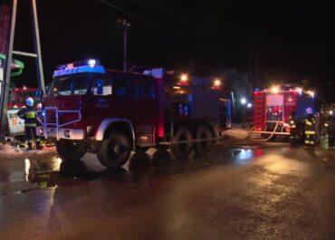 Pożar w wytwórni pasz. Ogień gasiło kilkanaście zastępów straży pożarnej