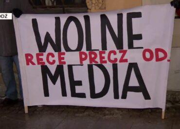 Protesty w obronie mediów.