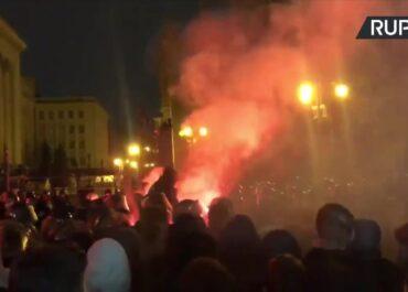 Zamieszki przed siedzibą prezydenta Ukrainy.