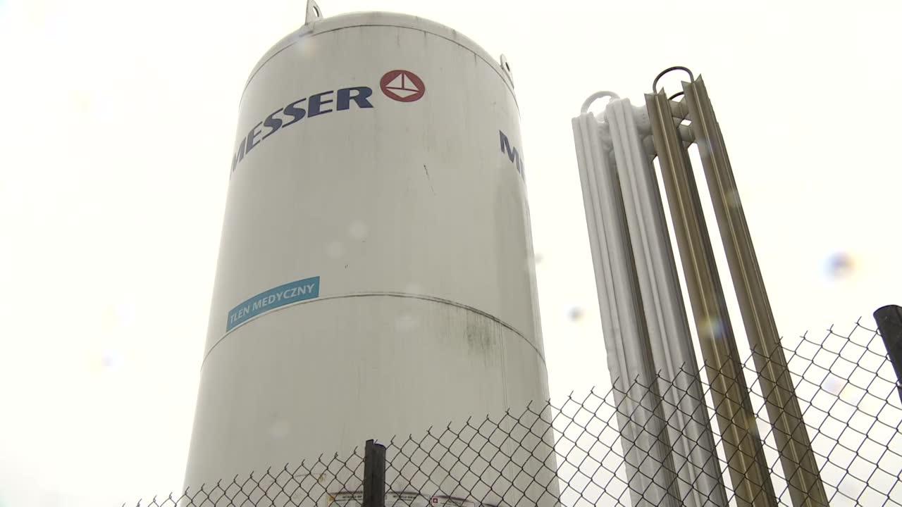 Szpital w Radomsku ma nowy zbiornik z tlenem. Mieści 12 ton życiodajnego gazu.
