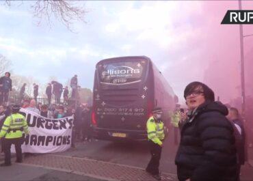 Skandal przed meczem Ligi Mistrzów. Kibice Liverpoolu wybili szybę w autokarze Realu Madryt.