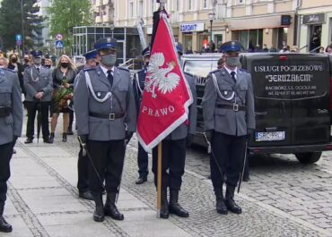 Hołd dla policjanta zastrzelonego na służbie w Raciborzu.