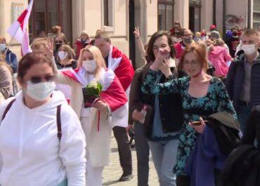 Marsz poparcia dla prześladowanych Białorusinów.