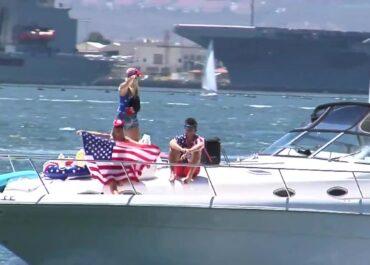 Parada jachtów sympatyków D. Trumpa z 75. urodzin byłego prezydenta USA