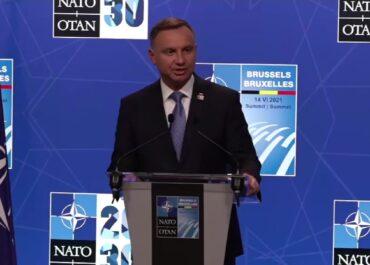 A. Duda po szczycie NATO: Zagrożenie ze strony Rosji, to jest jedno z największych wyzwań.