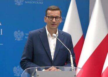 Premier broni marszałek Sejmu po emocjonalnej wymianie zdań w Otyniu.