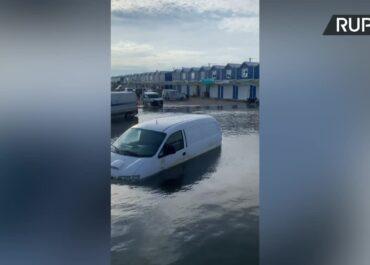 Odessa pod wodą. Ulewne deszcze spowodowały podtopienia.