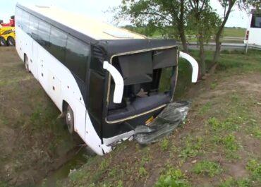 Autobus z przedszkolakami wjechał do rowu. 14 dzieci w szpitalu.