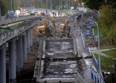 Zawalony wiadukt w Koszalinie. Sprawę bada prokuratura.