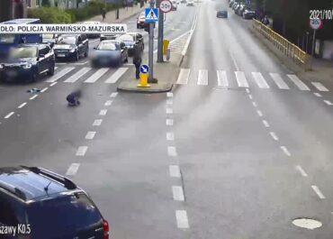 10-latka potrącona na przejściu dla pieszych. Policja publikuje nagranie